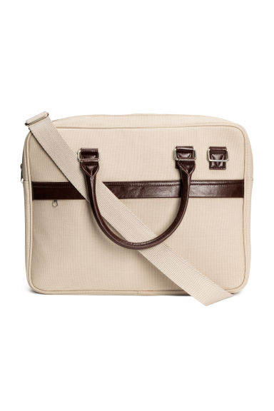 Canvas shoulder bag - Beige -  | H&M CN