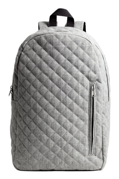 Quilted backpack - Grey marl - Men | H&M CN 1