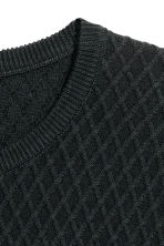 Jumper in a textured knit - Black - Men | H&M CN 3