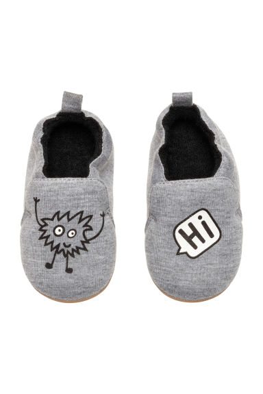 Terry-lined slippers - Grey - Kids | H&M CN 1