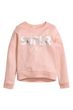 Printed sweatshirt - Powder pink - Kids | H&M CN 2