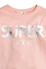 Printed sweatshirt - Powder pink - Kids | H&M CN 3