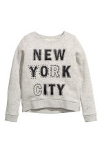 Printed sweatshirt - Grey/New York - Kids | H&M CN 2