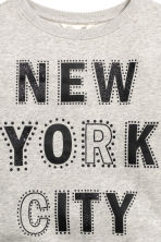 Printed sweatshirt - Grey/New York - Kids | H&M CN 3