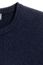 Lambswool jumper - Dark blue - Men | H&M CN 3