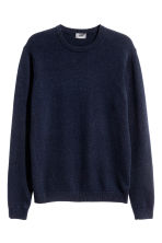 Lambswool jumper - Dark blue - Men | H&M CN 2