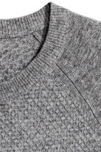 Textured cashmere jumper - Grey - Men | H&M CN 3