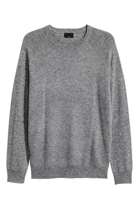 Textured cashmere jumper