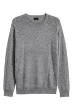 Textured cashmere jumper - Grey - Men | H&M CN 2