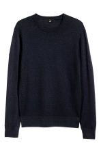 Merino wool jumper - Dark blue - Men | H&M CN 2