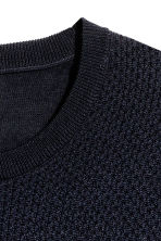 Merino wool jumper - Dark blue - Men | H&M CN 3