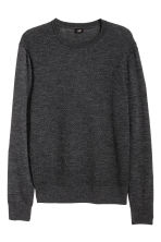 Merino wool jumper - Anthracite grey - Men | H&M CN 2