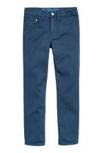 Twill trousers Slim fit - Dark blue - Kids | H&M CN 2