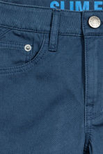 Twill trousers Slim fit - Dark blue - Kids | H&M CN 4