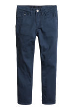 Twill trousers Slim fit - Dark blue -  | H&M CN 2