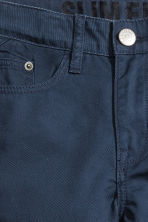 Twill trousers Slim fit - Dark blue -  | H&M CN 3