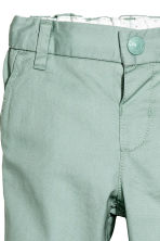 Cotton chinos - Mint green -  | H&M CN 2