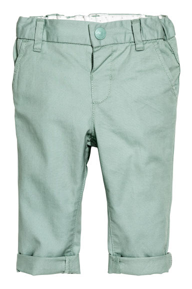 Chinos in cotone - Verde menta -  | H&M IT 1