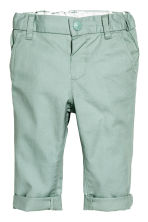 Cotton chinos - Mint green -  | H&M CN 1