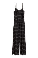 Jersey jumpsuit - Black/Striped - Ladies | H&M CN 2