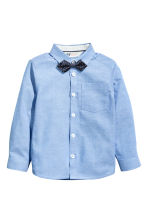 Shirt with bow tie/tie - Blue - Kids | H&M CN 2
