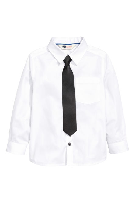 Shirt with bow tie/tie