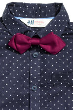 Shirt with bow tie/tie - Dark blue/Spotted - Kids | H&M CN 3