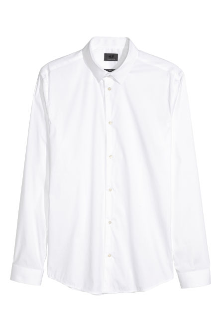 Long-sleeved stretch shirt