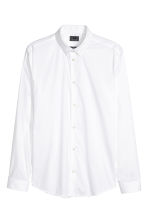 Stretch shirt Slim fit - White - Men | H&M 4