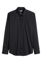 Camicia elasticizzata Slim fit - Nero -  | H&M IT 2