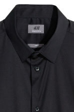 Camicia elasticizzata Slim fit - Nero -  | H&M IT 3