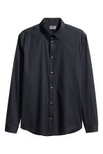 Stretch shirt Slim fit - Dark blue - Men | H&M CN 2