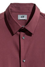 Stretch shirt Slim fit - Burgundy - Men | H&M CN 3