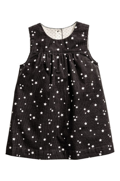 Sleeveless dress - Dark grey/Stars - Kids | H&M CN 1