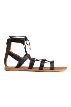 Sandals with lacing - Black - Ladies | H&M CN 2