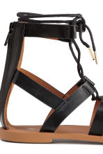 Sandals with lacing - Black - Ladies | H&M CN 5