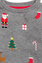 Christmas sweatshirt - Grey/Santa - Kids | H&M CN 3