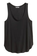 Vest top in jersey - Black - Ladies | H&M CN 1