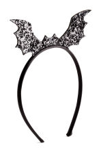 Alice band with a bat - Black/Glitter - Kids | H&M CN 2
