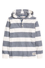 Jersey hooded top - Dark blue/Striped - Kids | H&M CN 2