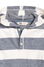 Jersey hooded top - Dark blue/Striped - Kids | H&M CN 3