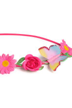 Hairband with flowers - Bright pink - Kids | H&M CN 2