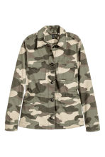 Short cotton parka - Khaki green/Patterned -  | H&M CN 2