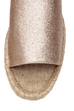 Mules - Gold/Glittery - Ladies | H&M CN 3