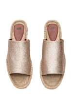 Mules - Gold/Glittery - Ladies | H&M CN 2