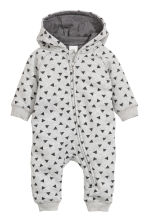 Sweatshirt all-in-one suit - Grey - Kids | H&M GB 1