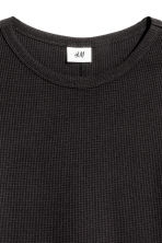 Waffled long-sleeved T-shirt - Black - Men | H&M CN 3