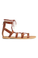 Sandals with lacing - Brown - Ladies | H&M CN 2