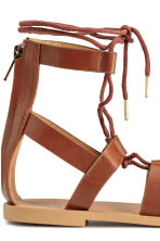Sandals with lacing - Brown - Ladies | H&M CN 5