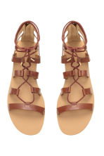 Sandals with lacing - Brown - Ladies | H&M CN 3